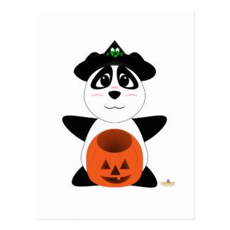 Oso de panda Huggable de la bruja Tarjeta Postal