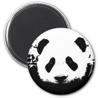 Oso de panda imán redondo 5 cm