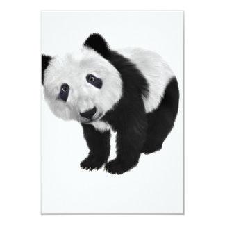 """Oso de panda invitación 3.5"""" x 5"""""""