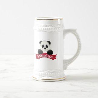 Oso de panda jarra de cerveza