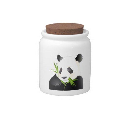 Oso de panda jarra para caramelo