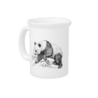 Oso de panda jarra