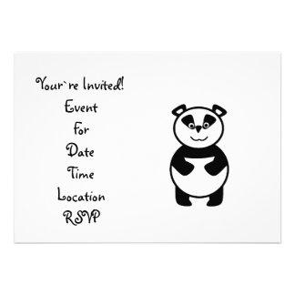 Oso de panda lindo comunicados personales