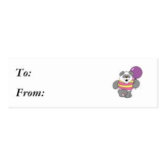 Oso de panda lindo con el globo tarjeta de negocio