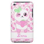 Oso de panda lindo de Kawaii del rosa de la fresa iPod Touch Funda