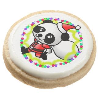Oso de panda lindo de Santa con el bolso de