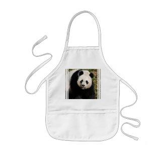 Oso de panda lindo delantal