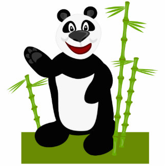 Oso de panda lindo estupendo esculturas fotograficas