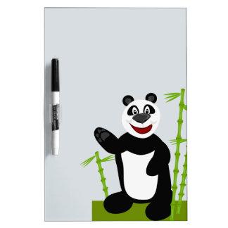 Oso de panda lindo estupendo tablero blanco