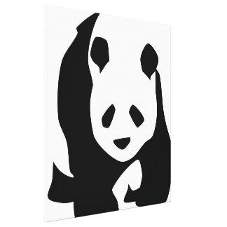 Oso de panda lindo lona envuelta para galerías