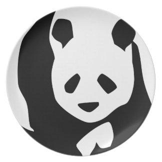 Oso de panda lindo plato de comida