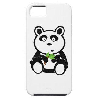 Oso de panda lindo que come las hojas del bambú iPhone 5 Case-Mate fundas