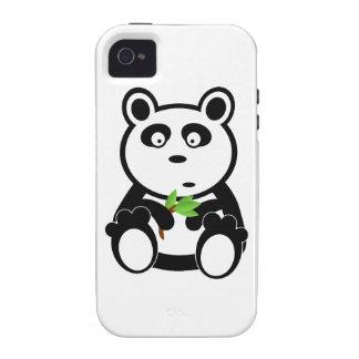 Oso de panda lindo que come las hojas del bambú iPhone 4/4S carcasa