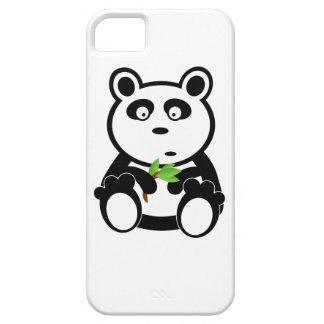 Oso de panda lindo que come las hojas del bambú iPhone 5 funda