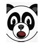 Oso de panda membrete