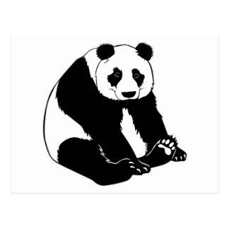 Oso de panda mimoso tarjetas postales