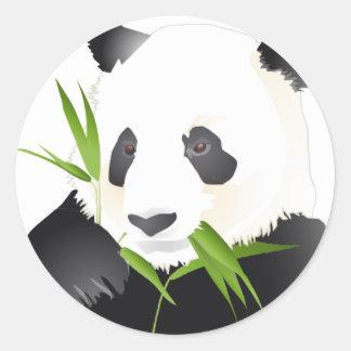 Oso de panda pegatinas redondas