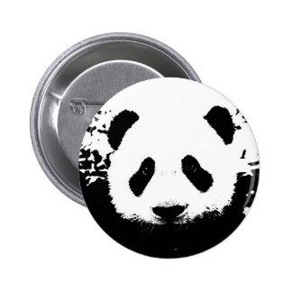 Oso de panda pin redondo de 2 pulgadas