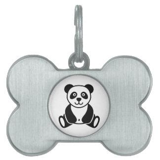 Oso de panda placa mascota