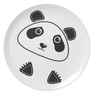 Oso de panda plato de comida