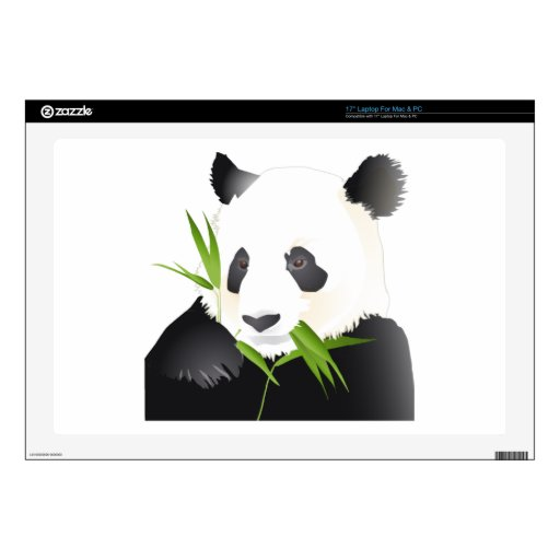 Oso de panda portátil 43,2cm skins