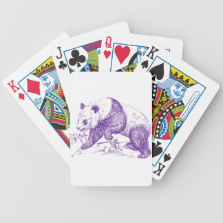 Oso de panda púrpura barajas de cartas