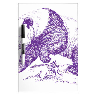 Oso de panda púrpura tableros blancos