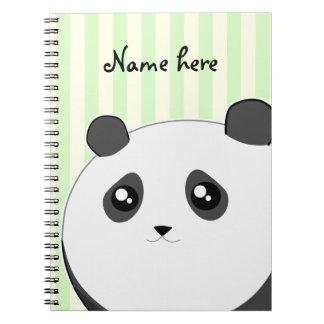 Oso de panda rechoncho lindo de Kawaii Notebook