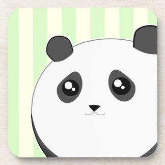 Oso de panda rechoncho lindo de Kawaii Posavasos