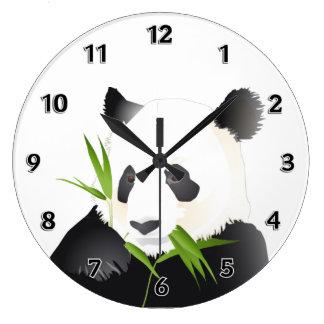 Oso de panda reloj redondo grande