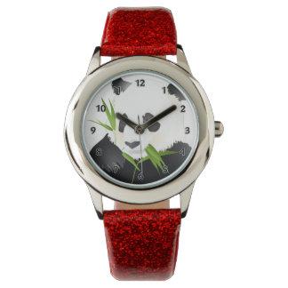 Oso de panda relojes de pulsera