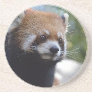 Oso de panda roja dulce posavasos para bebidas