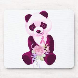 Oso de panda rosado de la cinta tapetes de ratones