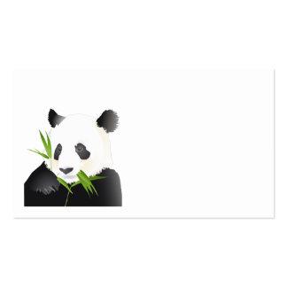 Oso de panda plantilla de tarjeta de negocio