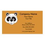 Oso de panda tarjetas de visita