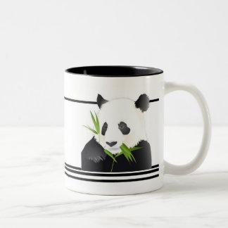 Oso de panda taza de café de dos colores