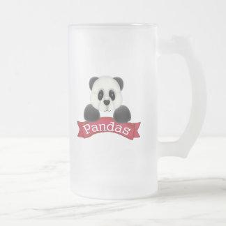 Oso de panda taza de cristal