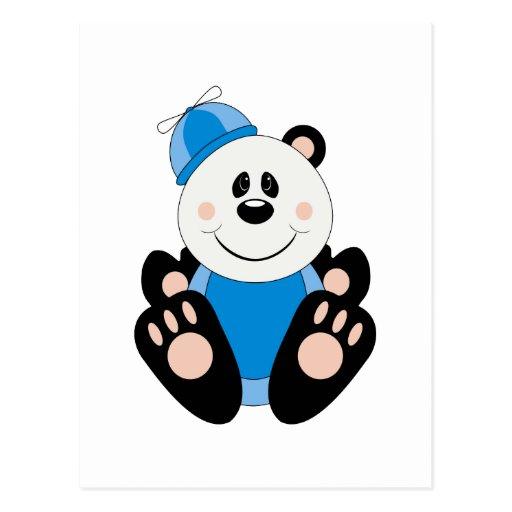 Oso de panda tonto del bebé de Cutelyn Tarjeta Postal