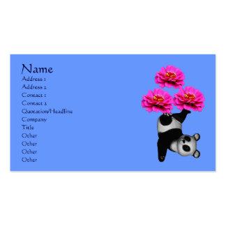 Oso de panda y tarjeta de visita animal de las flo