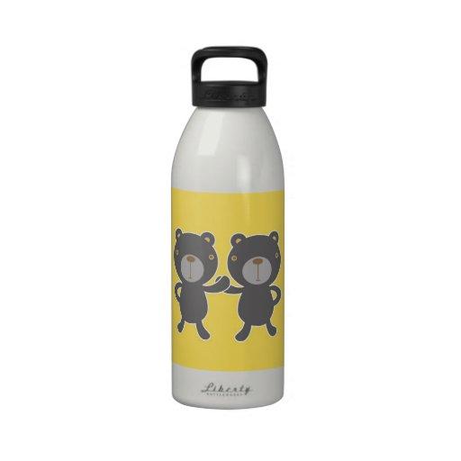 Oso de peluche - amarillo botella de agua