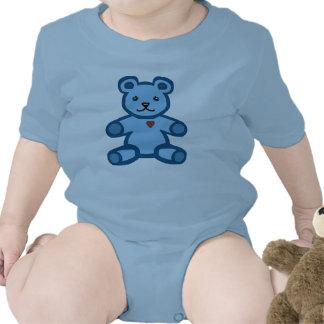 Oso de peluche azul camiseta