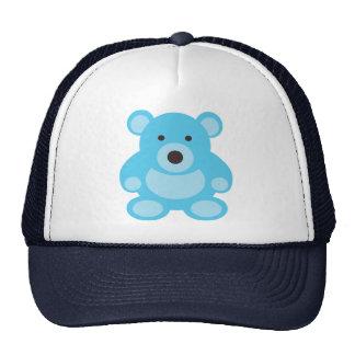 Oso de peluche azul claro gorras