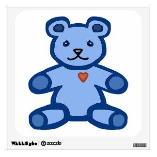 Oso de peluche azul con el corazón del amor