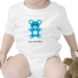 Oso de peluche azul del bebé lindo trajes de bebé