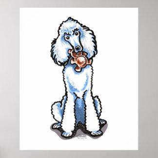 Oso de peluche blanco del caniche estándar impresiones