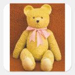 oso de peluche calcomanías cuadradas