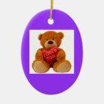 oso de peluche cariñoso ornaments para arbol de navidad