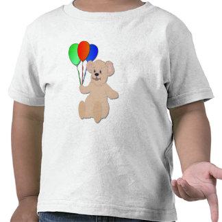 Oso de peluche con la camisa de los globos
