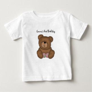Oso de peluche con la camiseta del niño de las polera