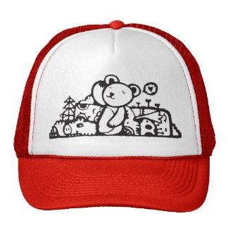 oso de peluche con sus amigos gorros